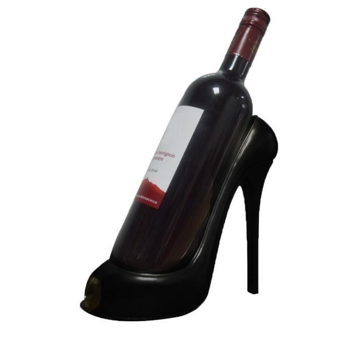Support haut talon vin chaussures bouteille Porte de stockage de soirée de mariage Décor Ornement Gif@XFM70831625BK
