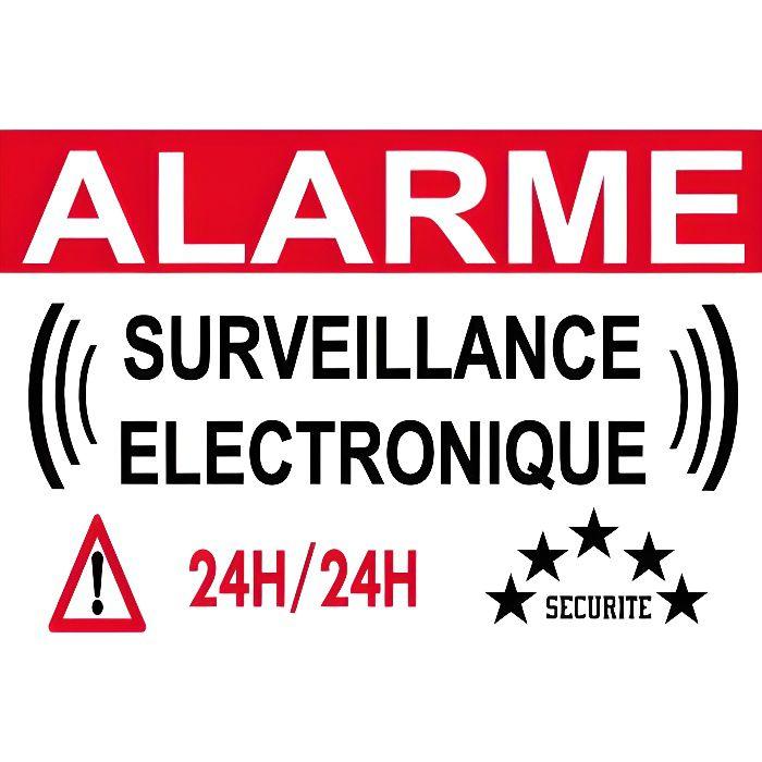 Panneau de dissuasion Alarme vidéo surveillance 300x200mm en pvc 3mm