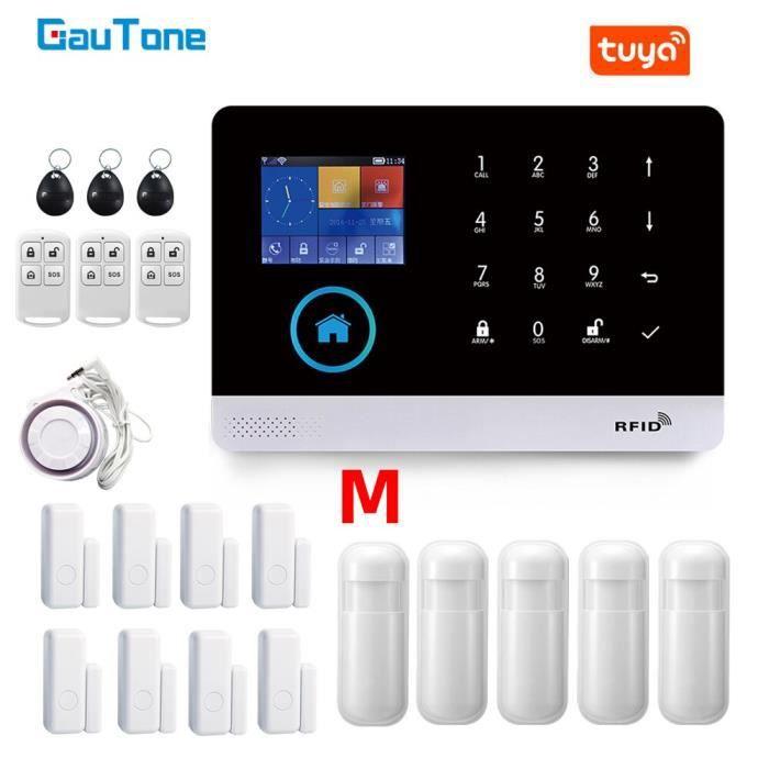 Gauton – système d'alarme de sécurité domestique PG103, wi-fi, GSM, 433MHz, sans fil, pour maison connectée Tuya, [4CA05F2]