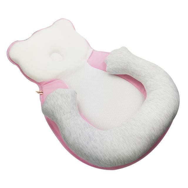 rose Berceau Portable et ajustable pour bébé, berceau de voyage, en coton, livraison directe Oreiller en mousse viscoélastique