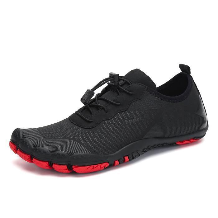 black wading shoes 9 -Chaussures d'eau pour hommes, nu pieds, baskets de mer et de plage en amont, qui respirent, sport, séchage