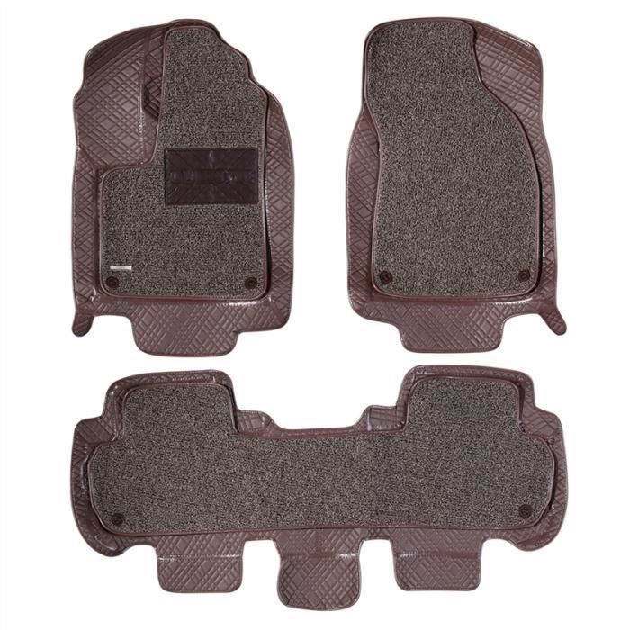 Coussin Heavy Duty Tapis de sol voiture Protection du véhicule Tapis Tapis pour Toyota Prado 2700-4000 - 2008-2015 (Champagne Brown)