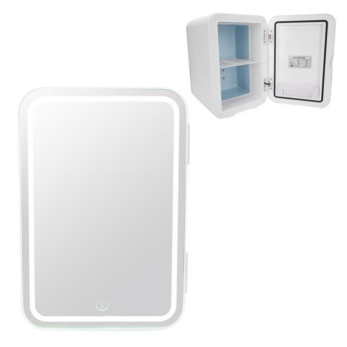 Mini Frigo de Maquillage 8L Miroir Réfrigérateur Cosmétique Refroidisseur Électrique de Maquillage Portable