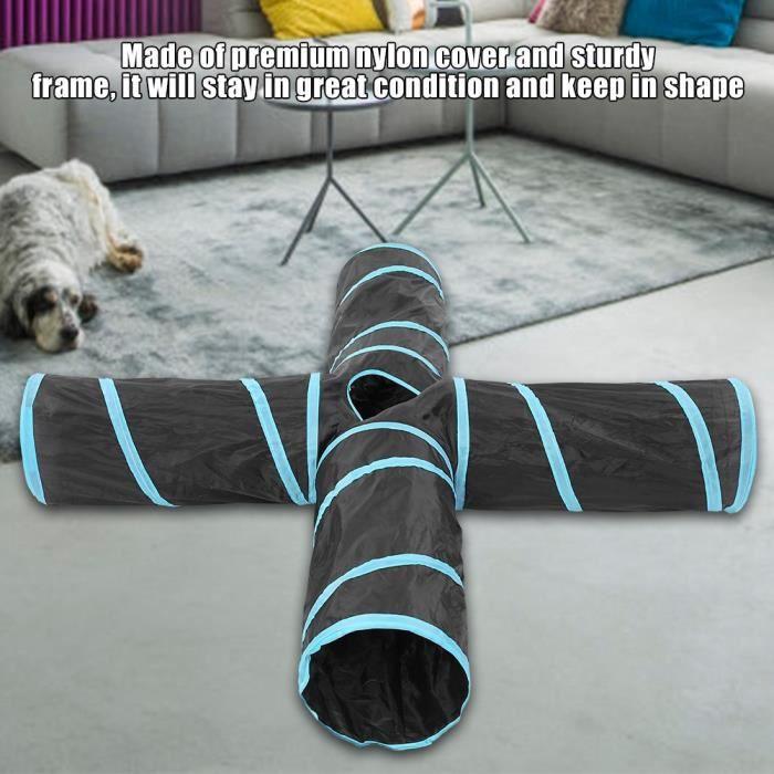 Tunnel de lapin, jouets pour chats, tunnels à 4 voies pour tube tunnel pour chat, tunnel jeu pour chat, jouet d'entraînement