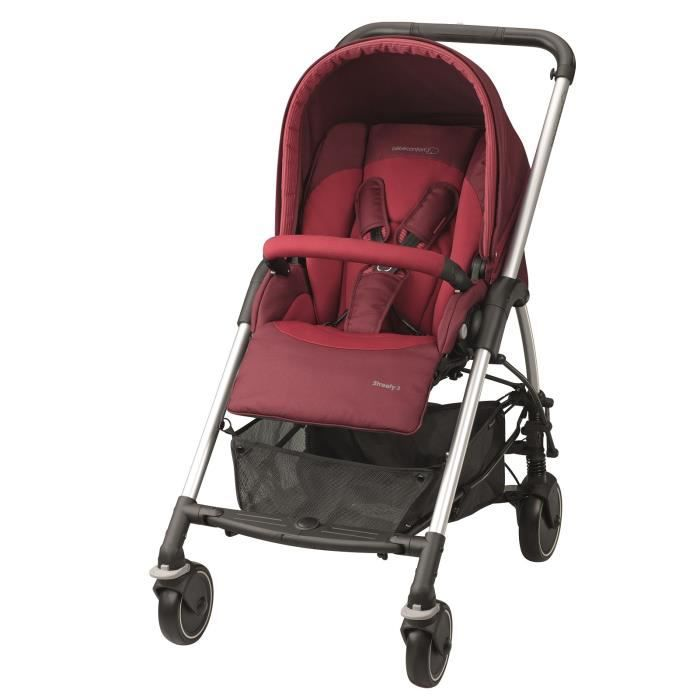 BEBE CONFORT Poussette Citadine Streety 3 - Robin Red