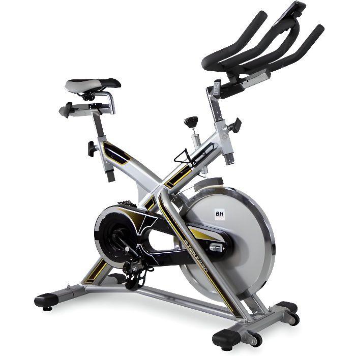 BH FITNESS Velo Biking spinning MKT JET BIKE PRO- Volant Inertie 20 kg- Courroie poly-V