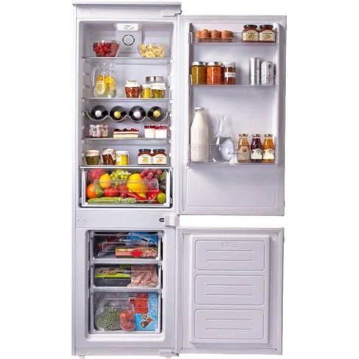 Candy CCS250A Réfrigérateur-congélateur intégrable niche largeur : 56 cm profondeur : 55 cm hauteur : 177.1 cm 250 litres…