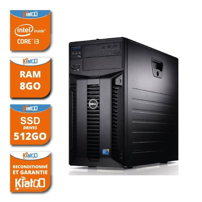 ordinateur de bureau serveur dell poweredge T310 intel core i3 8go ram 512 go ssd disque dur windows 7