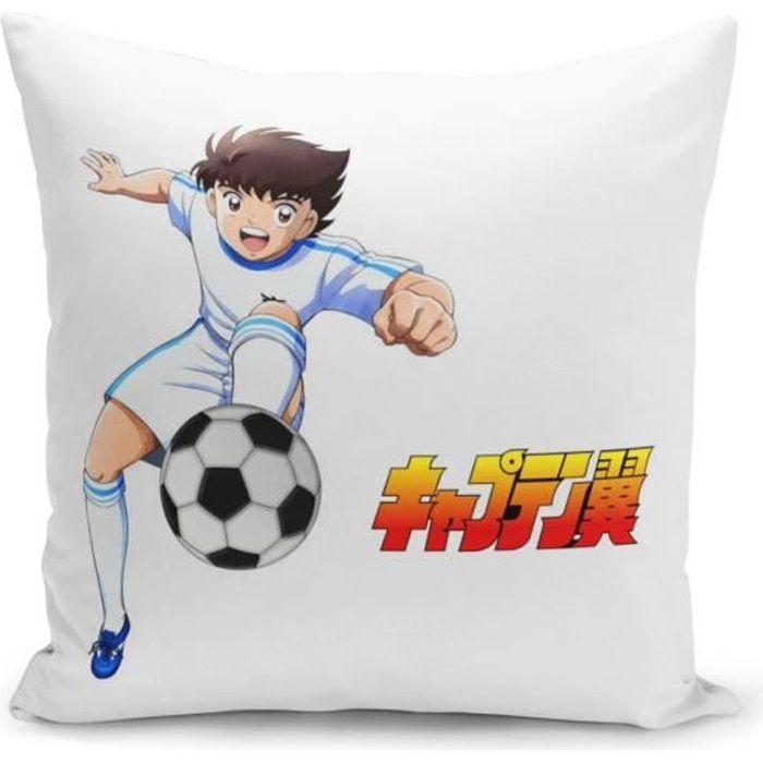 Housse de Coussin 40x40 cm Olive et Tom Captain Tsubasa Manga Cartoon Nouveau Football