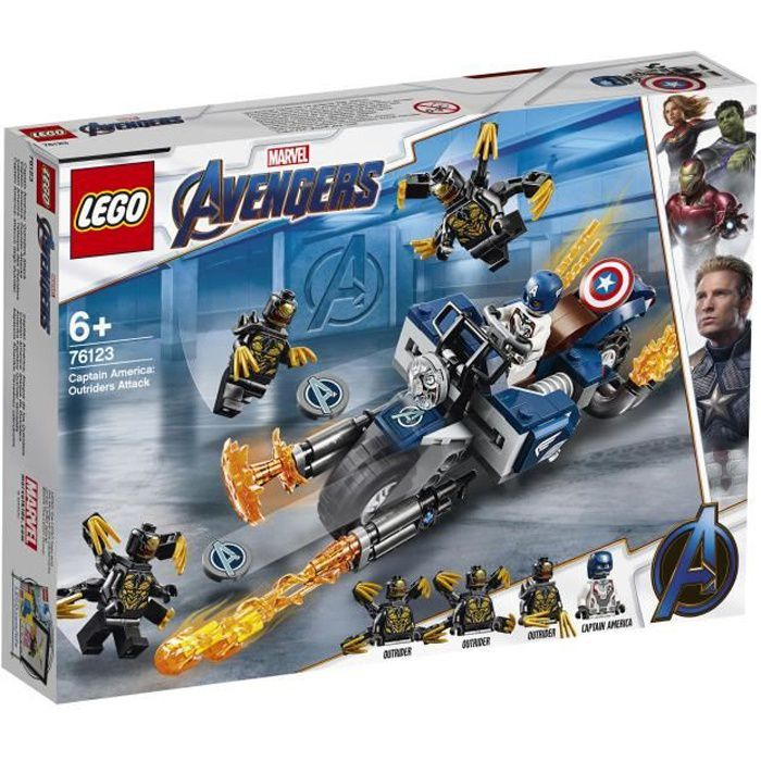 LEGO® Marvel Super Heroes 76123 - Captain America et l'attaque des Outriders - Jeu de construction