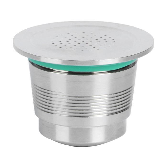 XIL-❉Tasse de filtre de stockage en acier inoxydable de capsule de café réutilisable adaptée à Nestle Nespresso❉