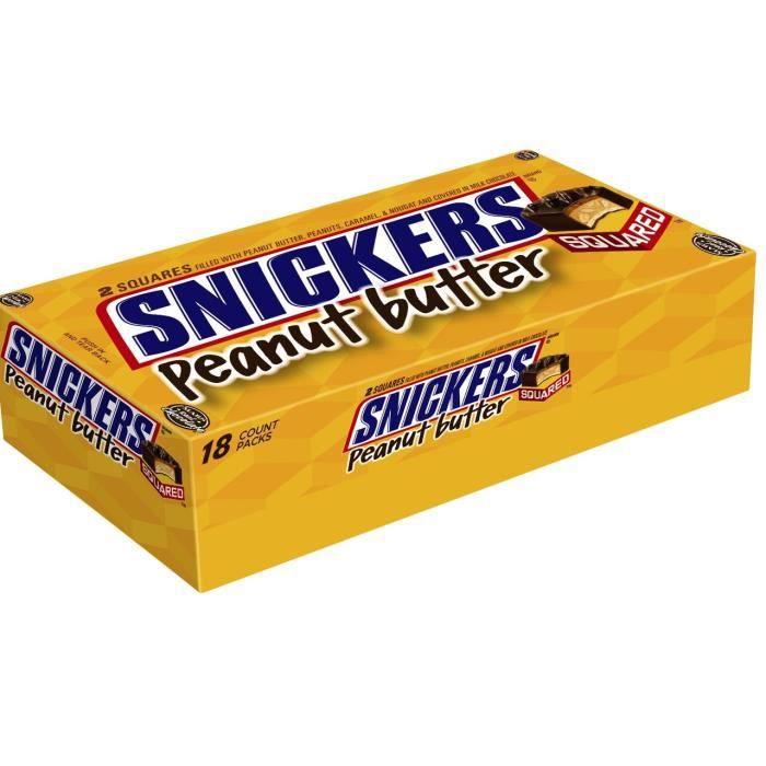 M&M'S Snickers Beurre de cacahuète - 50g x 18