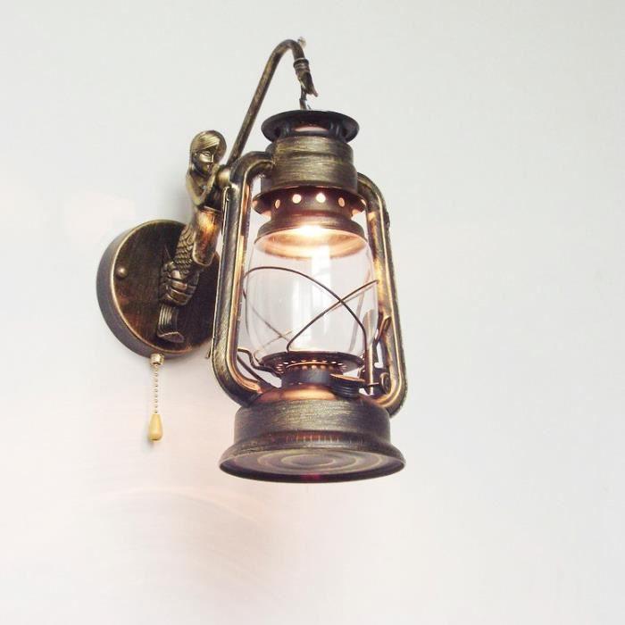TYNE Lampes murales Lanterne vintage de grange Applique murale rustiques d'éclairage Antique rétro applique luminaires