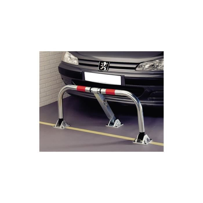 Mottez barrière de parking rabattable indéformable B304C