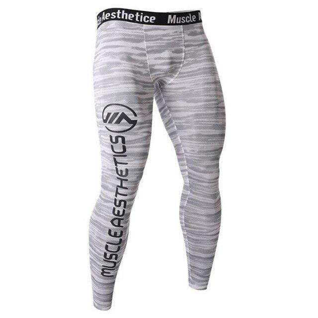 Leggings Serrés De Compression Pour Hommes Sport De Course Pantalon De Jogging De Remise En Forme Pour Hommes