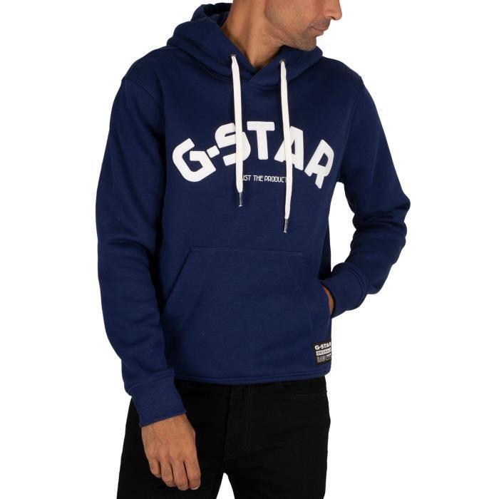 G-Star Sweatshirt à capuche Varsity Felt, Bleu, Homme