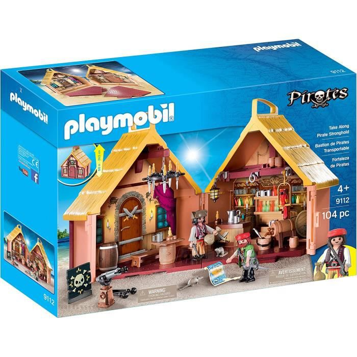 Playmobil le Bastion des Pirates Transportable 104 pieces figurines