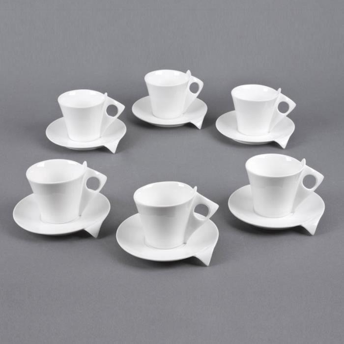 TABLE PASSION - COFFRET 6 TASSES / SOUS TASSES ...