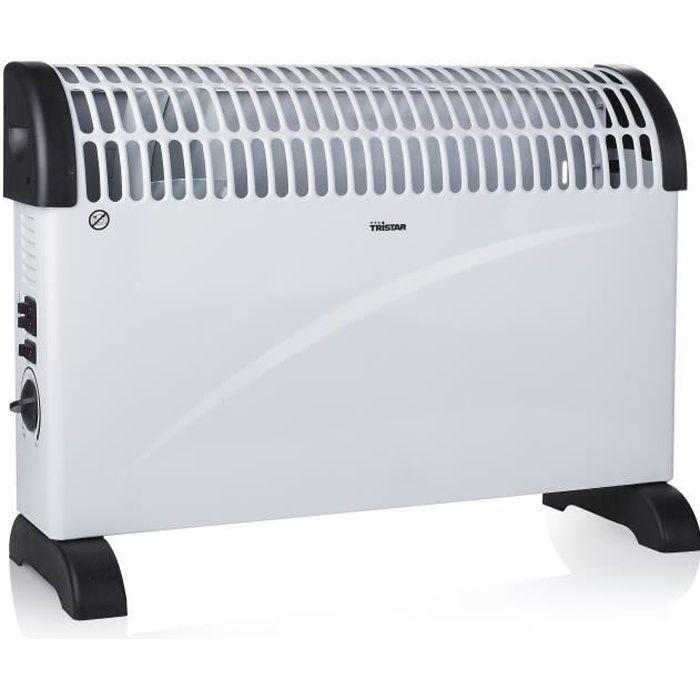 TRISTAR Chauffage électrique convecteur fonction turbo 2000 W
