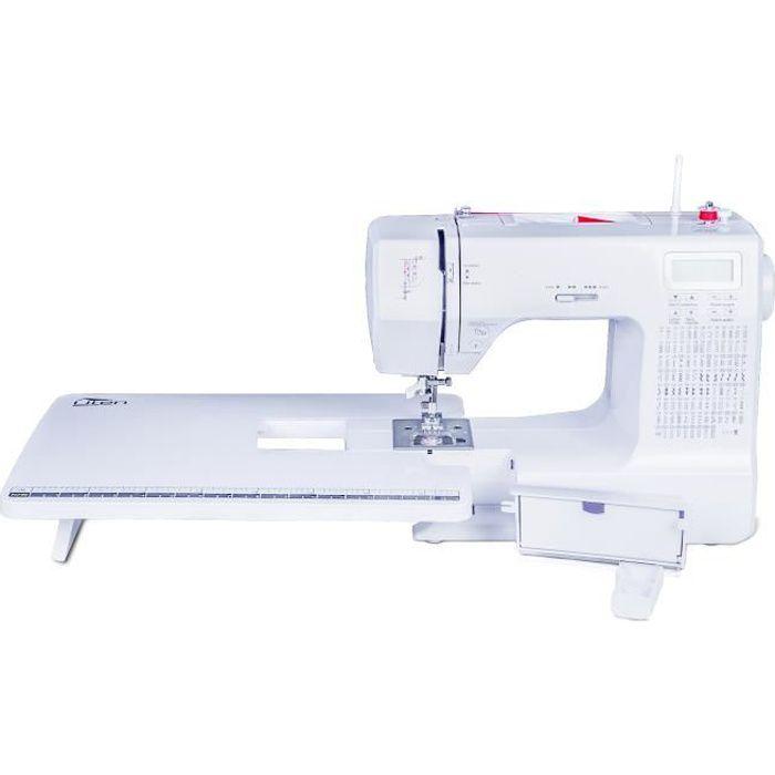 Uten 2685A Machine à coudre électronique avec table d'expansion blanc