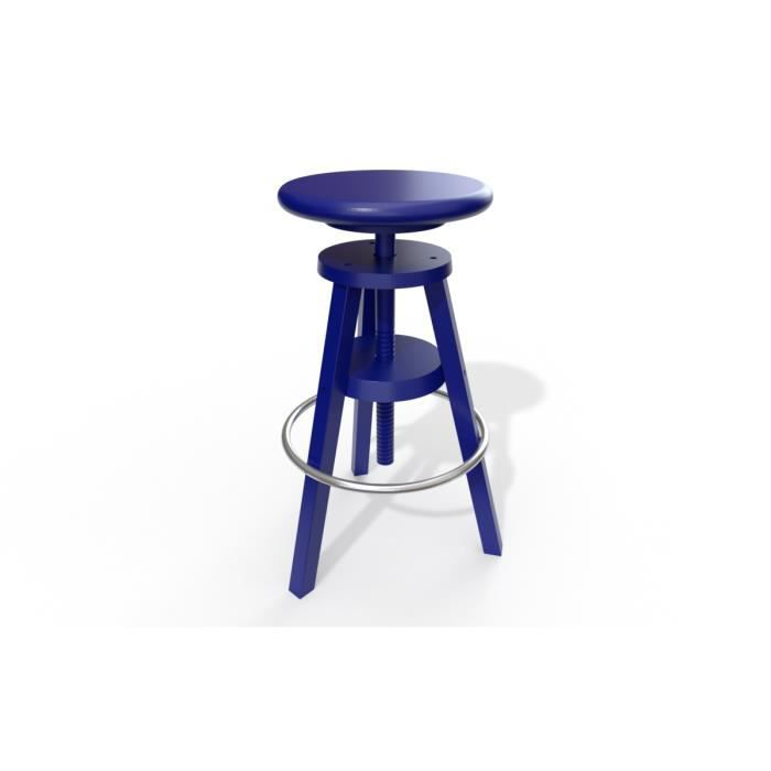 tabouret de bar achat vente tabouret de bar bleu. Black Bedroom Furniture Sets. Home Design Ideas