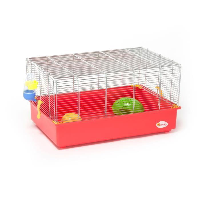 CAGE Animalis - Cage Équipée pour Hamster - 61x40x33cm