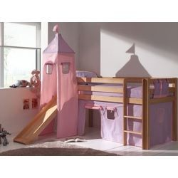 lit sur lev enfant avec toboggan rosa avec so achat. Black Bedroom Furniture Sets. Home Design Ideas