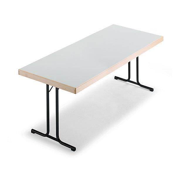 pliante piétement Tables Table anthraciteplateau Tables en Tables Table T 1500 gris 800 clair pliantes mmpiétement x WrBCexod