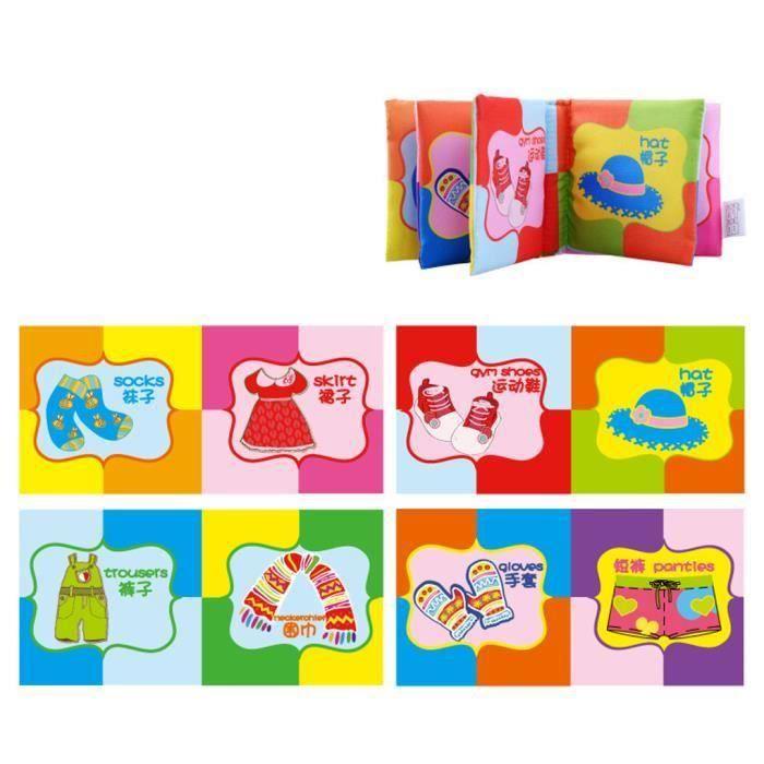 LIVRE INTERACTIF ENFANT Tissu savoir Image Intelligence Development connaî