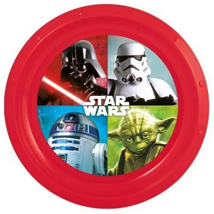 star wars assiette plate en plastique rigide de coloris. Black Bedroom Furniture Sets. Home Design Ideas