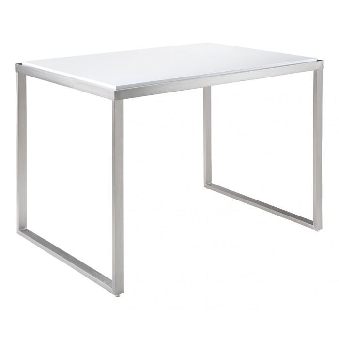 Table de bar laqu blanc kenza id 39 clik achat vente mange debout table - Table haute bar extensible ...