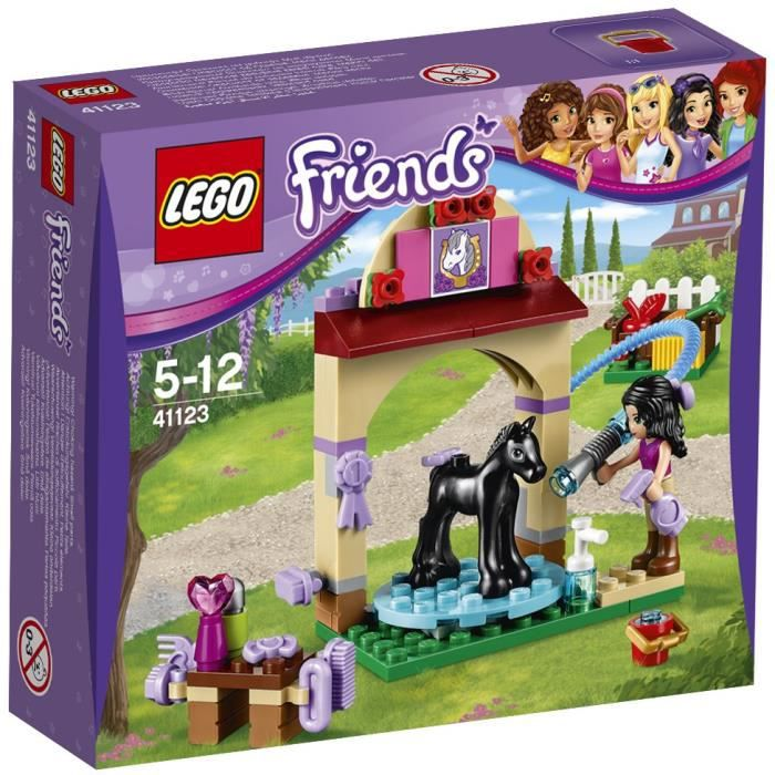 assemblage construction lego friends 41123 le toilettage du poulain