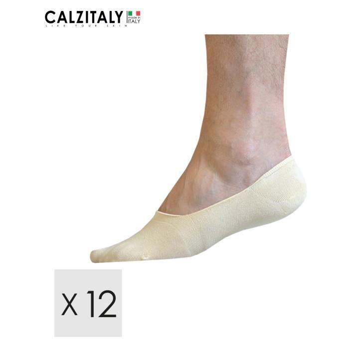 lot de 12 paires chaussettes courtes homme coton invisibles
