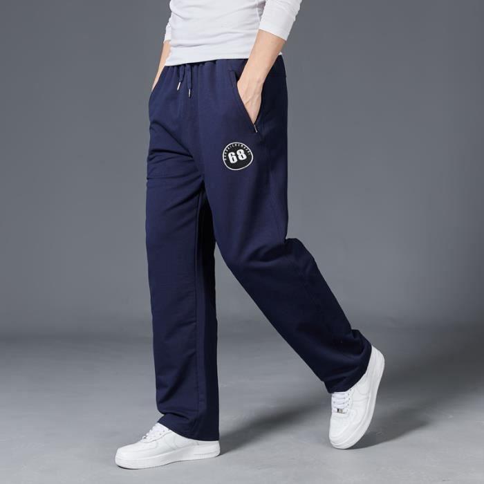 Pantalon homme jogging de sport coton hiphop baggy gym pantalon à taille élastique masculin survêtement sportswear