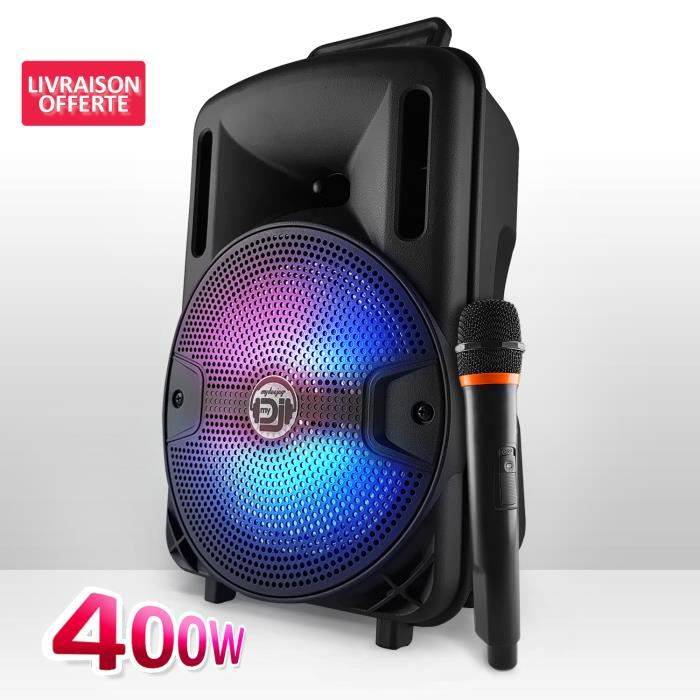 ENCEINTE ET RETOUR Enceinte sur batterie KoolStar SPACER08 karaoke au