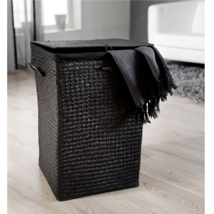 panier linge alpha noir achat vente panier a linge. Black Bedroom Furniture Sets. Home Design Ideas