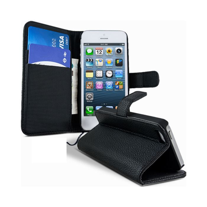 Etui portefeuille apple iphone 5 achat vente housse for Etui housse iphone 5