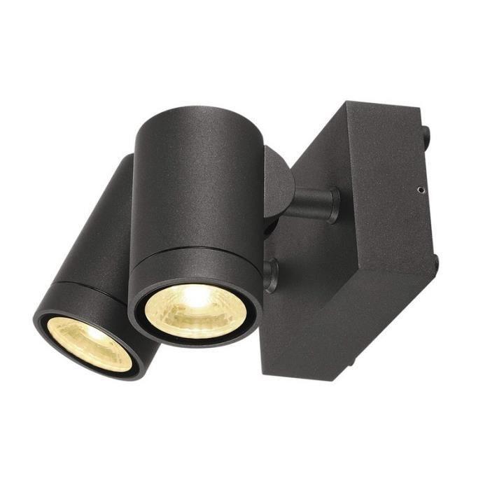 Slv Double Spot Exterieur Helia Led Ip55 H10 Cm Anthracite 10 5 Cm Gris Achat Vente Slv Double Spot Exterieur Cdiscount