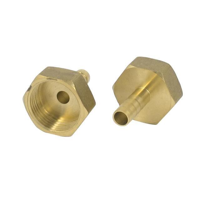 sourcingmap/® Filetage 3//4 BSP femelle en laiton 8 mm diam/ètre tube raccord pour tuyau connecteur 2pcs