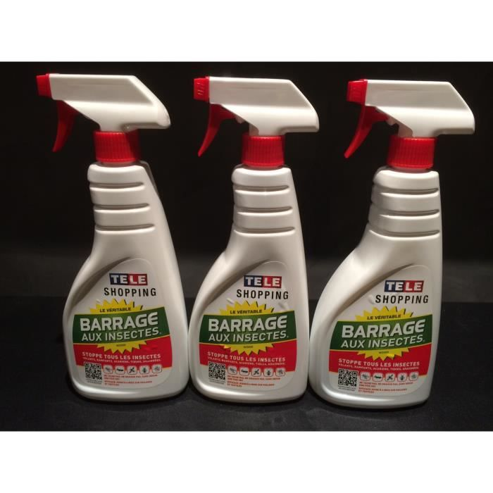 produit insecticide lot de 3 bouteilles de barrage a insectes vu a la. Black Bedroom Furniture Sets. Home Design Ideas