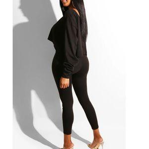 Su.B Ensemble 2 Pi/èces de Tenue de Sport pour Femmes Pantalon de Fitness et Haut Court avec Soutien-Gorge Doux et Confortable Ensemble dEntra/înement de Yoga
