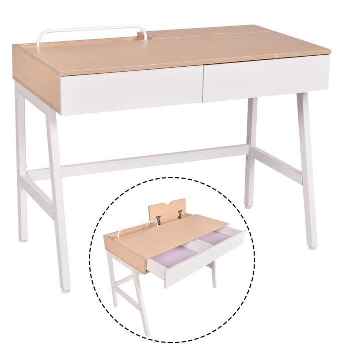 Bureau informatique table de travail ordinateur meuble de for Table pour pc de bureau