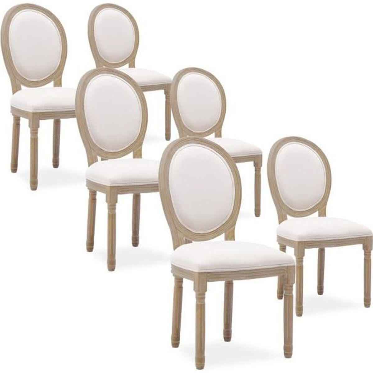 xvi de chaises louis 6 medaillon Lot reBoCxd
