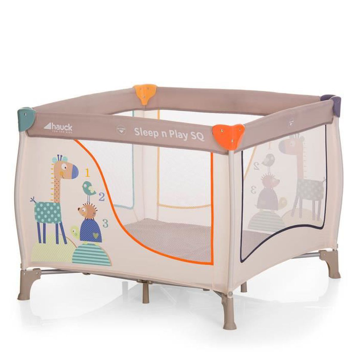 lit parapluie hauck sleep and play sq animals beige achat vente lit pliant 4007923606124. Black Bedroom Furniture Sets. Home Design Ideas