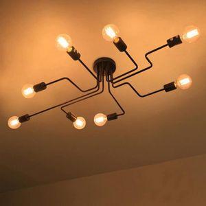 PLAFONNIER  Plafonnier Lustre Vintage Led Lampe Industrielle