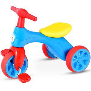 PORTEUR - POUSSEUR Mini Draisienne Tricycle Enfant avec Pédales Voitu