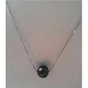 SAUTOIR ET COLLIER collier pendentif perle e de Tahiti ronde chaîne s