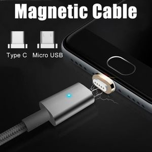 CHARGEUR TÉLÉPHONE Type C magnétique Micro USB de charge rapide Charg