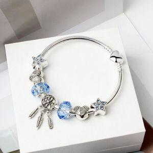 BRACELET - GOURMETTE 19cm Charms Bracelet Pandora Style bijoux Femme ca