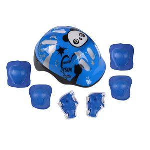 POTENCE DE VÉLO Casque de Protection Bleu pour Enfants Patiner Vél